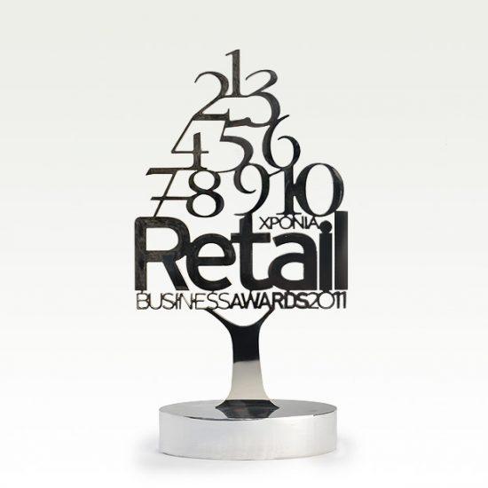 Αναμνηστικό επετείου 10 χρόνια Retail Business Awards